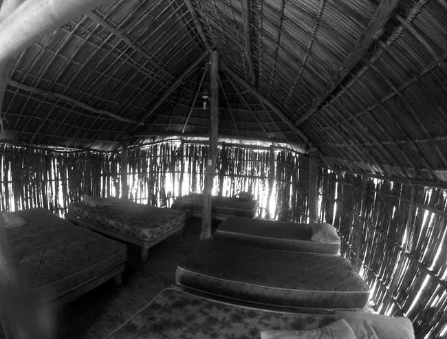 Quarto compartilhado da cabaña Wissdub na ilha de Chichime