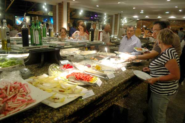 Buffet da Churrascaria Rafain