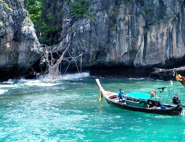 Entrada alternativa da Maya Bay