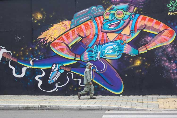 Grafite urbano em Medellín