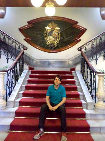 Escada do Palácio Estévez em Montevidéu