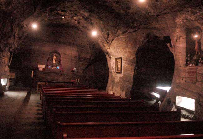 capela da catedral de sal de zipaquirá