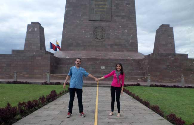 Linha do Equador na Cidade Metade do Mundo