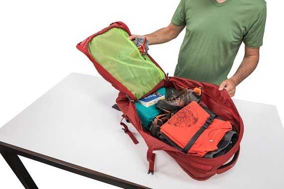 mochila de viagem