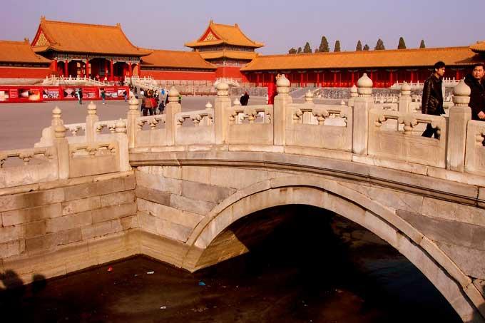 ponte e prédios da cidade proibida