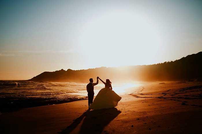 pedido de noivado na praia
