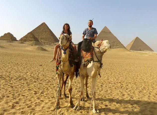 local ideial de fotografar as piramides