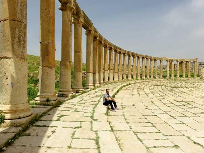 ruinas romanas de jerash jordania