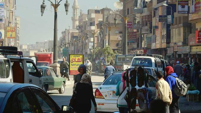 ruas movimentadas do egito