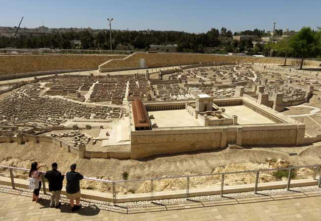 maquete de Jerusalem cidade antiga