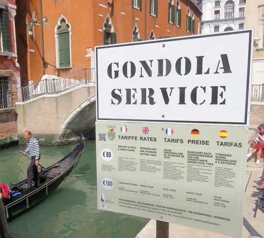 preço passeio de gôndola veneza
