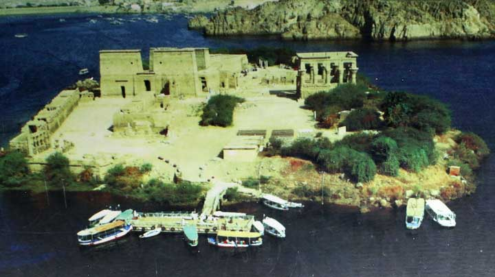 foto aérea do Templo de Philae