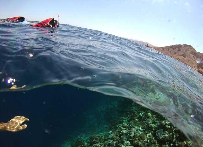 snorkeling blue hole egito