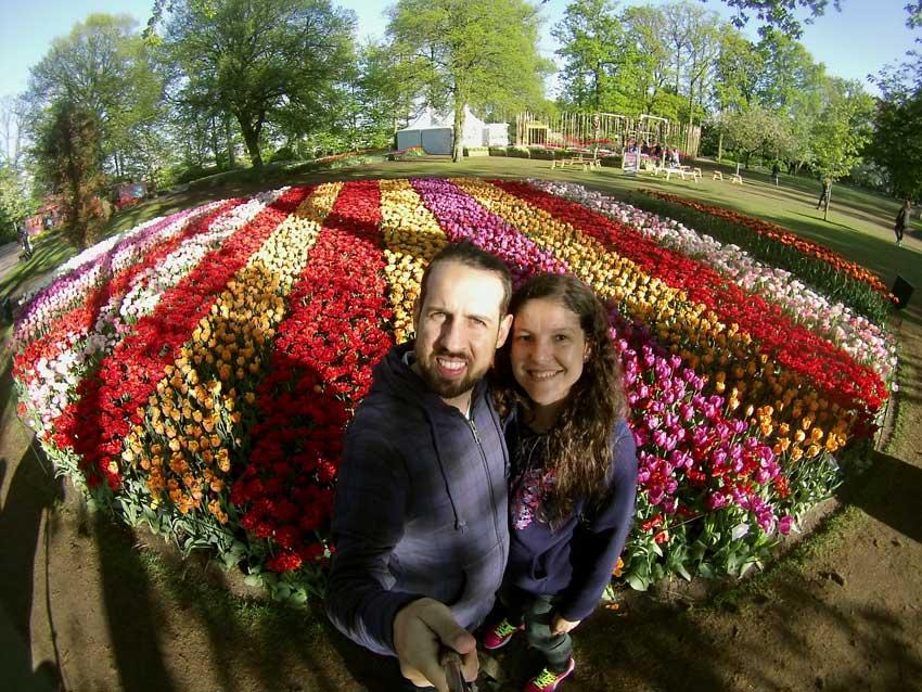 Jardins de tulipas holanda
