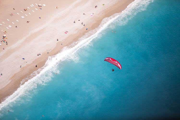 paraglider Oludeniz lagoa azul