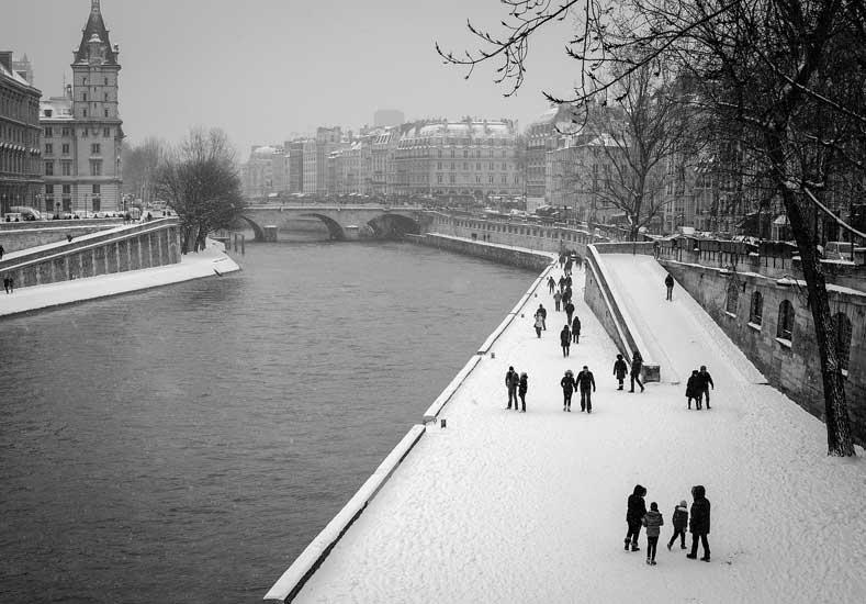 meses de frio em paris