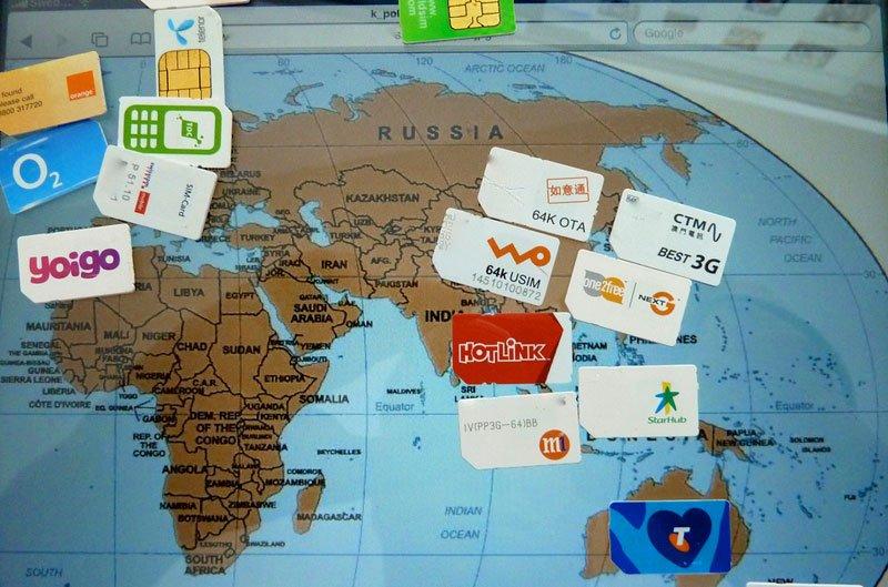 chips celular varios países
