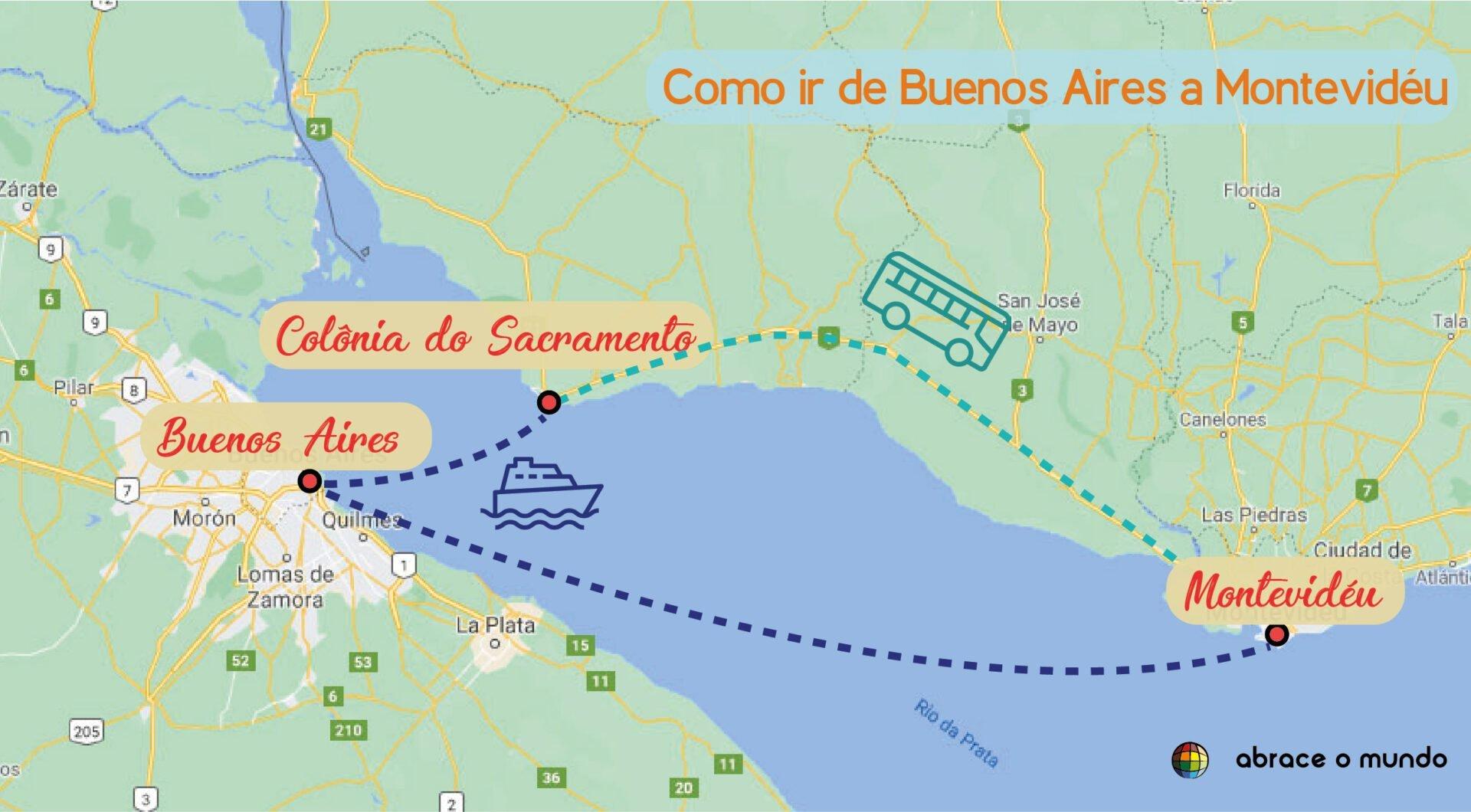 Como ir de Buenos Aires para Montevidéu