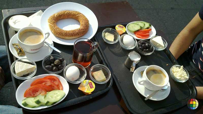Cafe da manha na Turquia