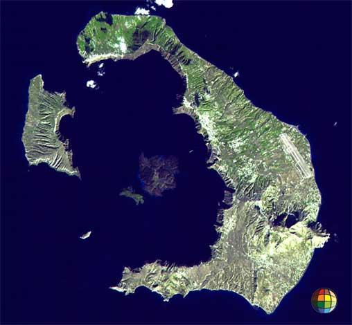 foto aérea de santorini grécia