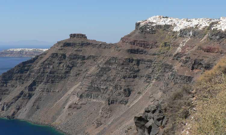 vista mais bonita caldeira vulcão santorini