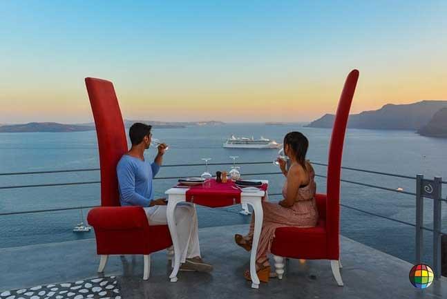 restaurantes romanticos grecia santorini