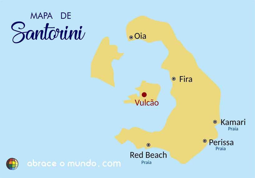 santorini mapa