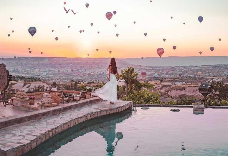 hoteis melhores vistas balões capadocia