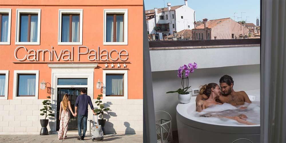 hotel romantico com banheira hidromassagem veneza