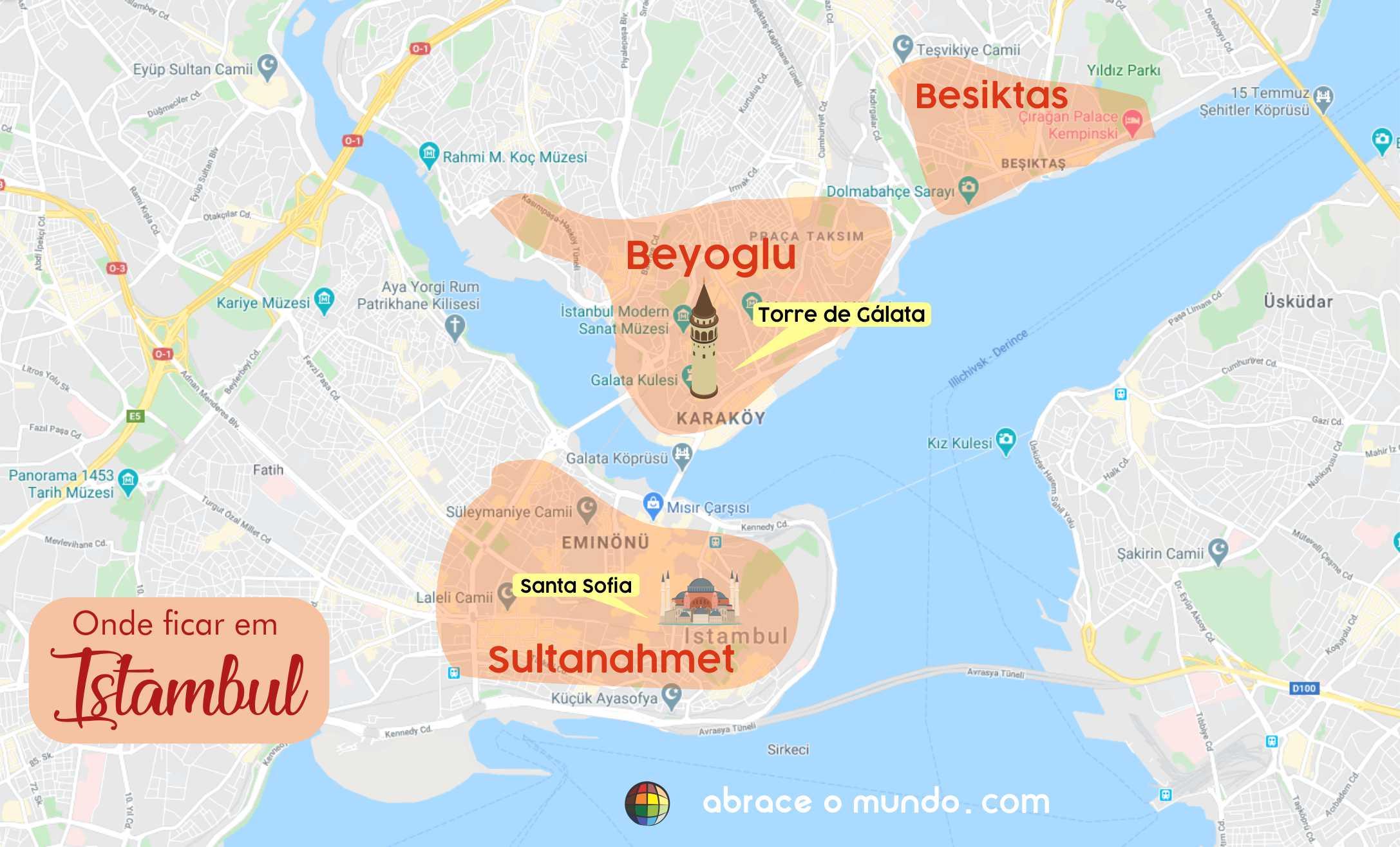 onde ficar em istambul