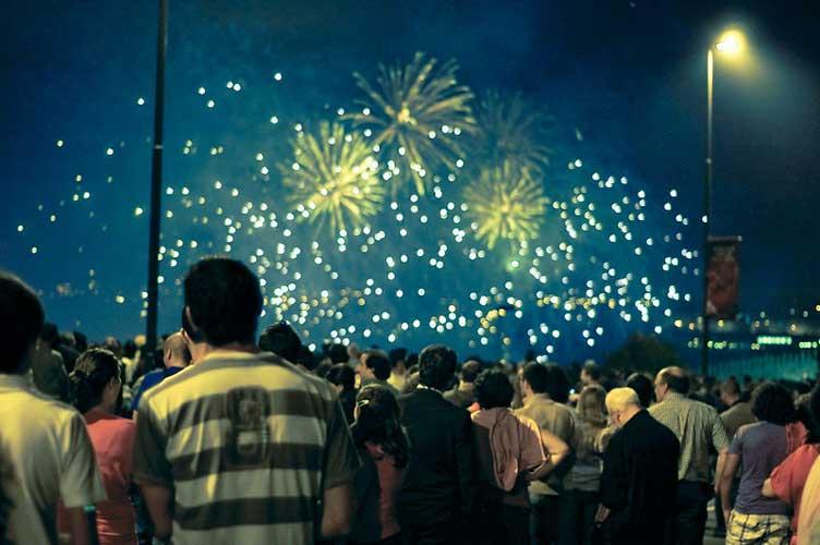 fogos de artificio são joao no porto portugal