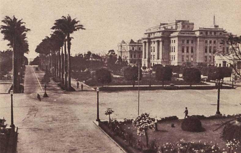 Praça da Liberdade antigamente