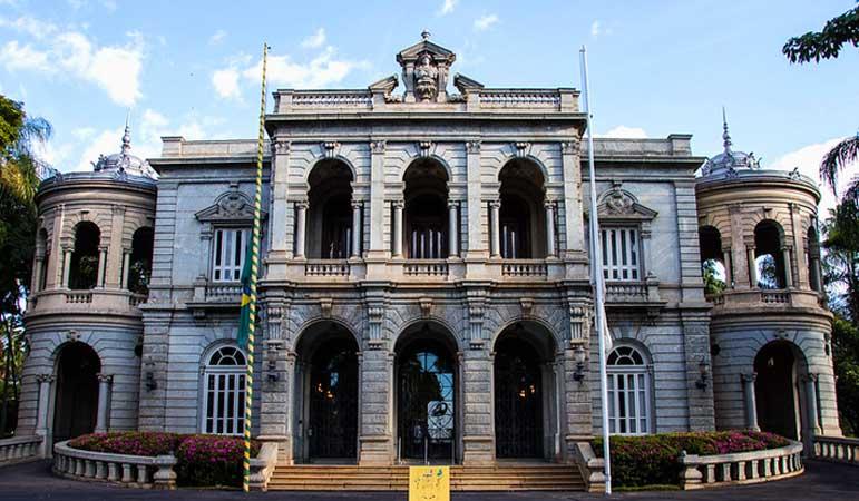 Palácio da Liberdade localizado na Praça da Liberdade