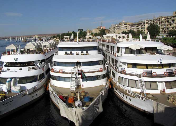 navios que fazem cruzeiro pelo rio nilo
