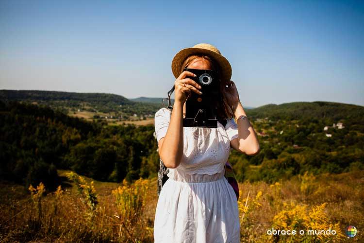 câmera para viajar