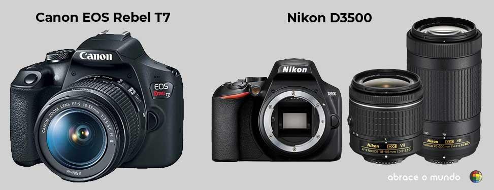 câmeras fotografias para viagem