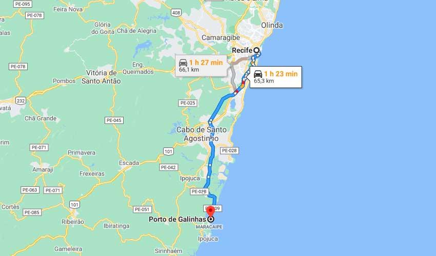 Como chegar em Porto de Galinhas