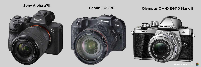 melhores cameras miroless viagem
