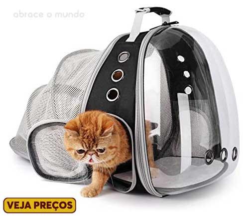 mochila para pet viajar