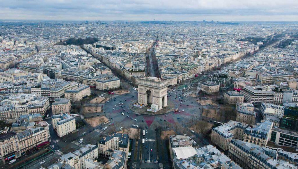 foto drone paris