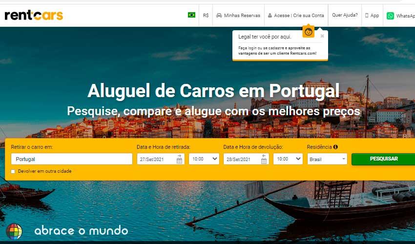 aluguel de carro portugal